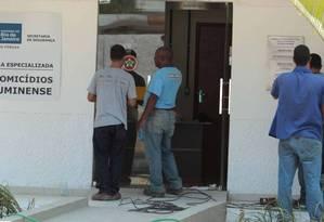 Sede da Divisão de Homicídios da Baixada Fluminense Foto: Agência O Globo
