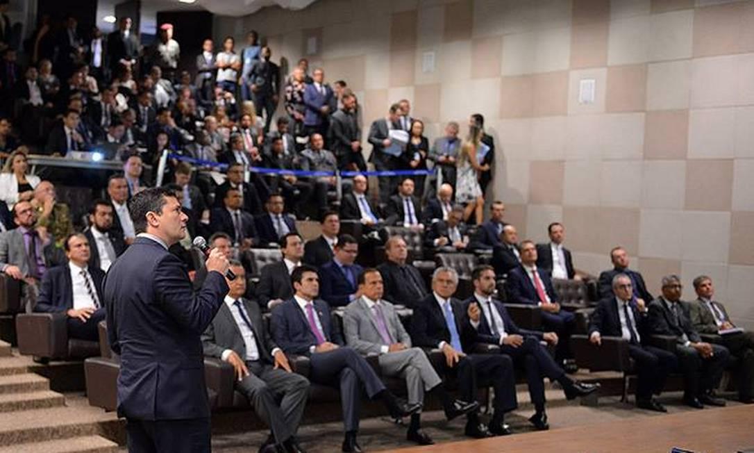 Moro apresenta projeto anticrime para governadores e secretários de segurança dos estados Foto: IsaacAmorim/Divulgação