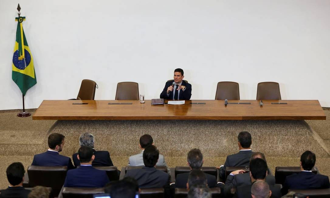 Moro apresenta a governadores projeto de lei contra a corrupção e anticrime Foto: HANDOUT / REUTERS