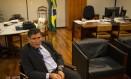 O ministro da Secretaria-Geral de Governo, Santos Cruz Foto: Daniel Marenco / Agência O Globo