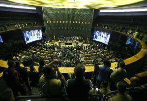 Cerimônia de reabertura dos trabalhos legislativos Foto: Jorge William / Agência O Globo