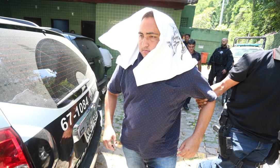 Manoel de Brito Batista, o Cabelo, é acusado de fazer parte da milícia de Rio das Pedras; ele foi preso em janeiro na operação Os Intocáveis Foto: Fabiano Rocha / Fabiano Rocha
