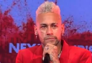 Neymar chora durante aniversário Foto: Reprodução/Instagram