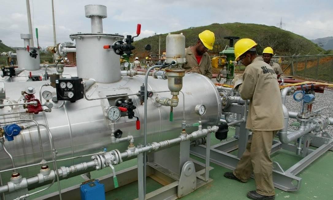 Estação de gás natural Foto: William de Moura - Agência O Globo