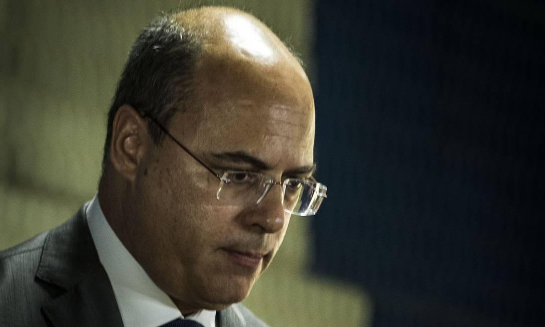 O governador Wilson Witzel Foto: Guito Moreto em 28/01/2019