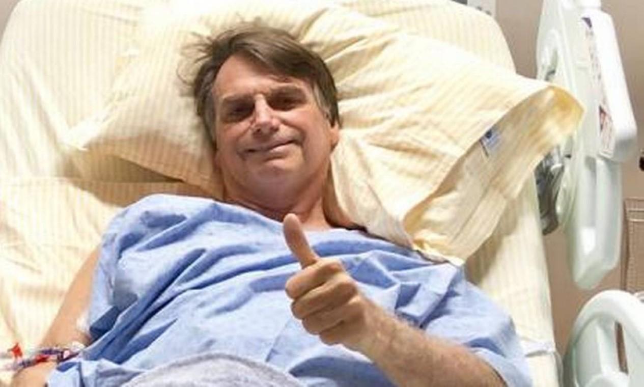Bolsonaro passa por um segunda cirurgia no dia 12 de setembro, dessa vez no Einstein. O procedimento foi necessário porque foi identificada uma aderência que obstruía o intestino delgado. Foto: Reprodução 13/09/2018
