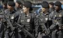 Policiais militares das Rondas Especiais e Controle de Multidões (Recom) Foto: Gabriel de Paiva - Agência O Globo