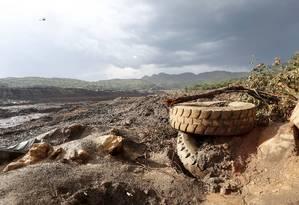 Lama de rejeitos de barragem de Brumadinho destruiu tudo por onde passou Foto: Domingos Peixoto / Agência O Globo