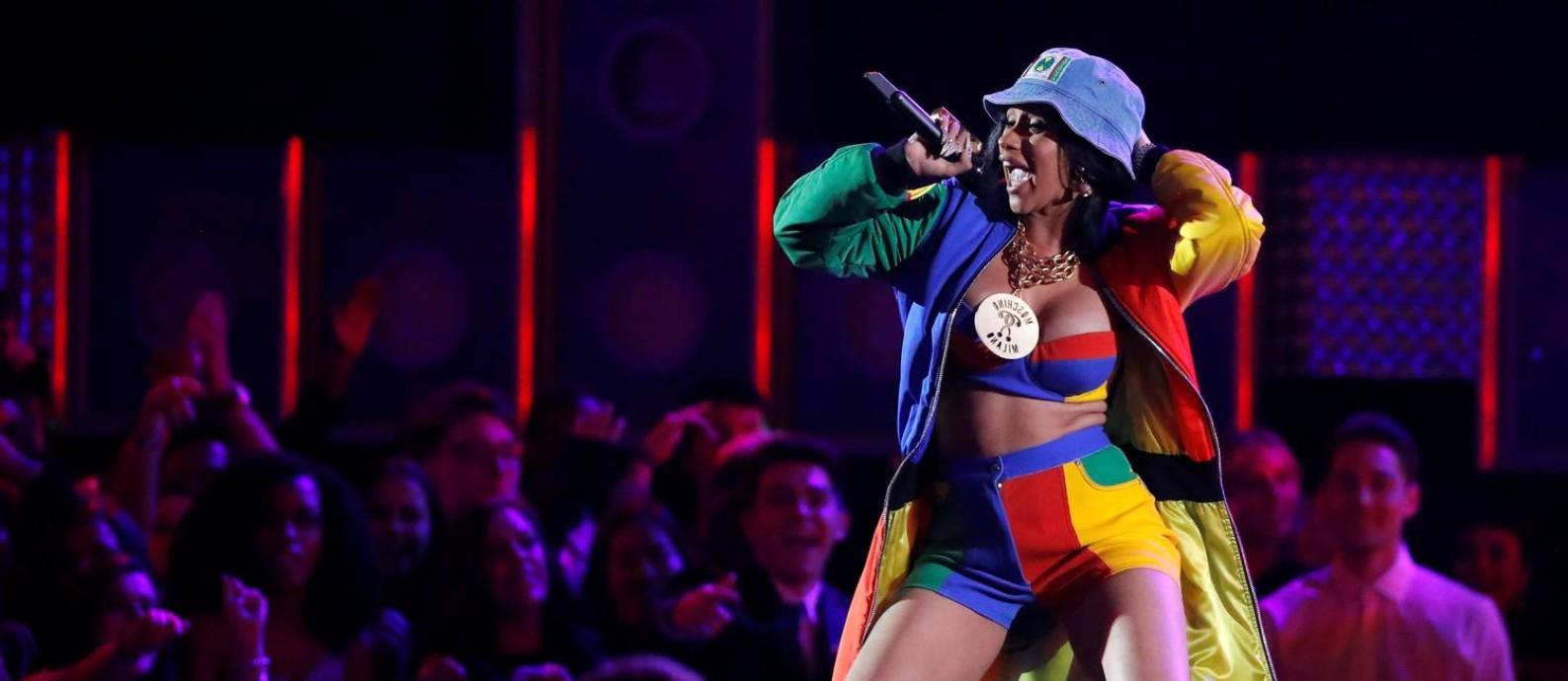 Cardi B se apresentou no Grammy em 2018 Foto: LUCAS JACKSON / REUTERS