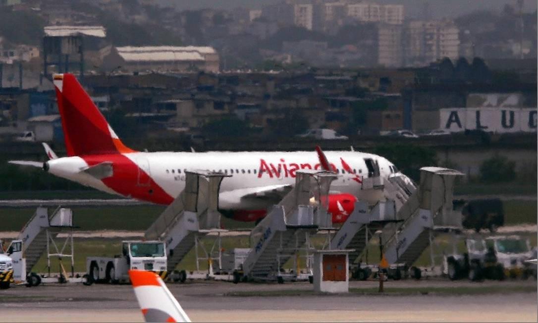 Aeronave da Avianca, que pediu recuperação judicial. Foto: Fabiano Rocha- Agência O Globo