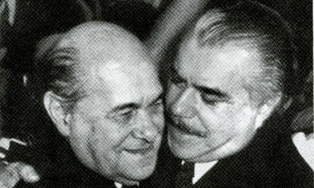 Tancredo Neves e José Sarney Foto: Gervásio Batista / Agência O Globo