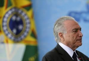 Michel Temer participa de cerimônia no Palácio do Planalto Foto: Jorge William/Agência O Globo/05-12-2018