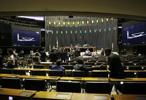 Primeira sessão plenária na Câmara dos Deputados da nova legislatura Foto: Jorge William / Agência O Globo