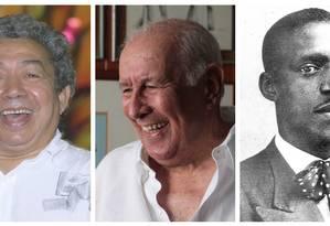 Joãosinho Trinta, Fernando Pamplona e Paulo da Portela Foto: Arquivo