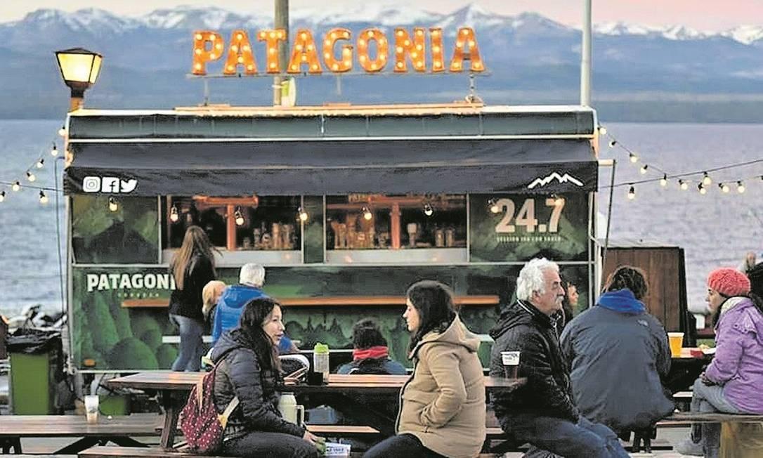Visitantes em food truck no festival Bariloche a la Carta Foto: Divulgação