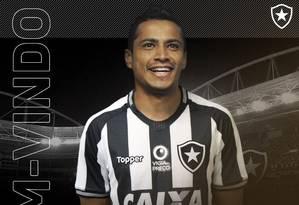 Cícero é jogador do Botafogo Foto: Reprodução/Twitter