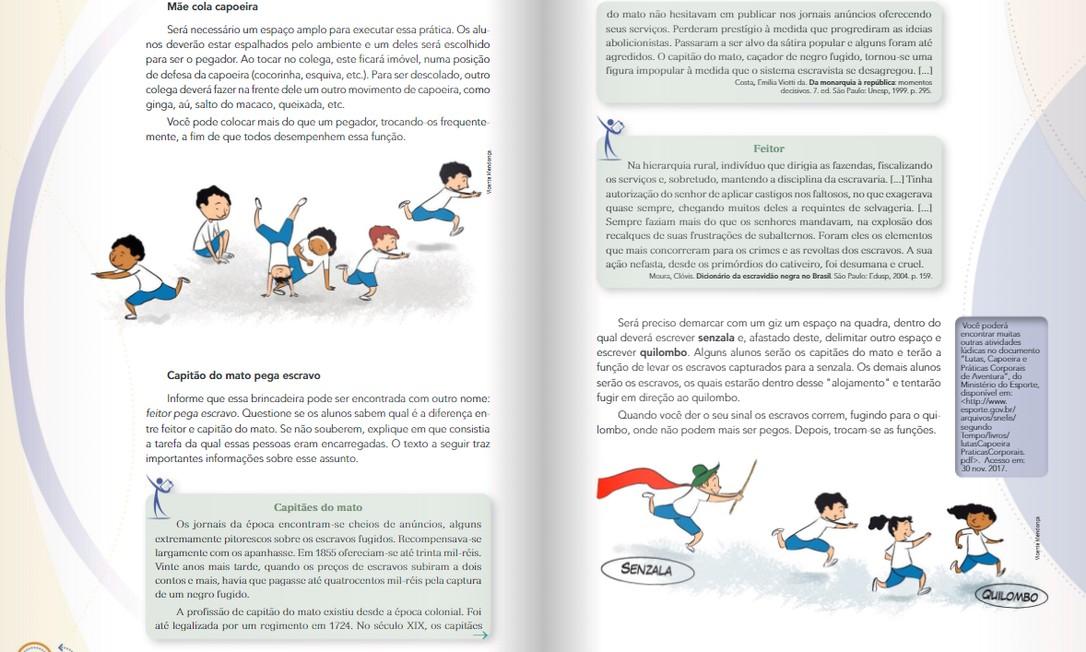 Aprovado pelo MEC, manual infantil propõe brincadeira que encena escravidão e causa revolta