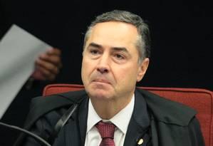O ministro Luís Roberto Barroso, durante sessão da Primeira Turma do STF Foto: Carlos Moura/STF/05-02-2019