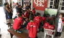 Escolinha do Flamengo em São Gonçalo teve torcida especial para o jovem talento Foto: Diogo Dantas