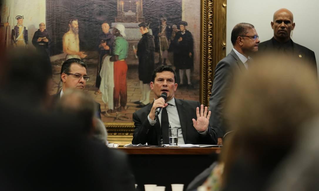 Moro apresenta a parlamentares pacote anticrime Foto: Jorge William / Agência O Globo