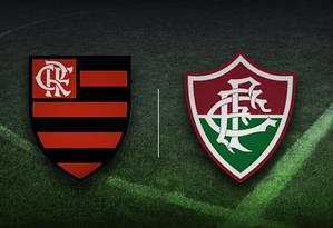 Flamengo e Fluminense se enfrentam na semifinal da Taça Guanabara Foto: Editoria de Arte