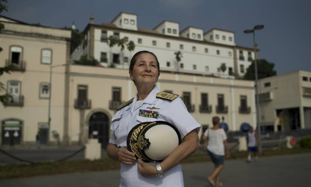 A almirante Dalva Maria Carvalho Mendes, a primeira mulher a chegar ao posto de oficial-general nas Forças Armadas Brasileiras Foto: Márcia Foletto / Agência O Globo