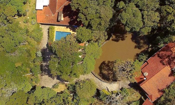Vista aérea do sítio frequentado pelo ex-presidente Luiz Inácio Lula da Silva na cidade de Atibaia, no interior de São Paulo Foto: Luis Moura / Agência O Globo