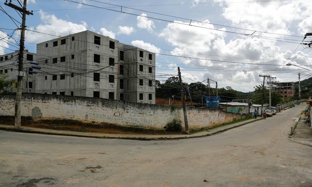 Projeto do Minha casa, Minha vida em Fonseca, Niterói Foto: Brenno Carvalho / Agência O Globo