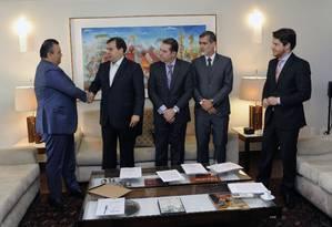 O presidente da Câmara, Rodrigo Maia, recebe proposta de atualização de Lei das Drogas Foto: Luis Macedo/Câmara dos Deputados