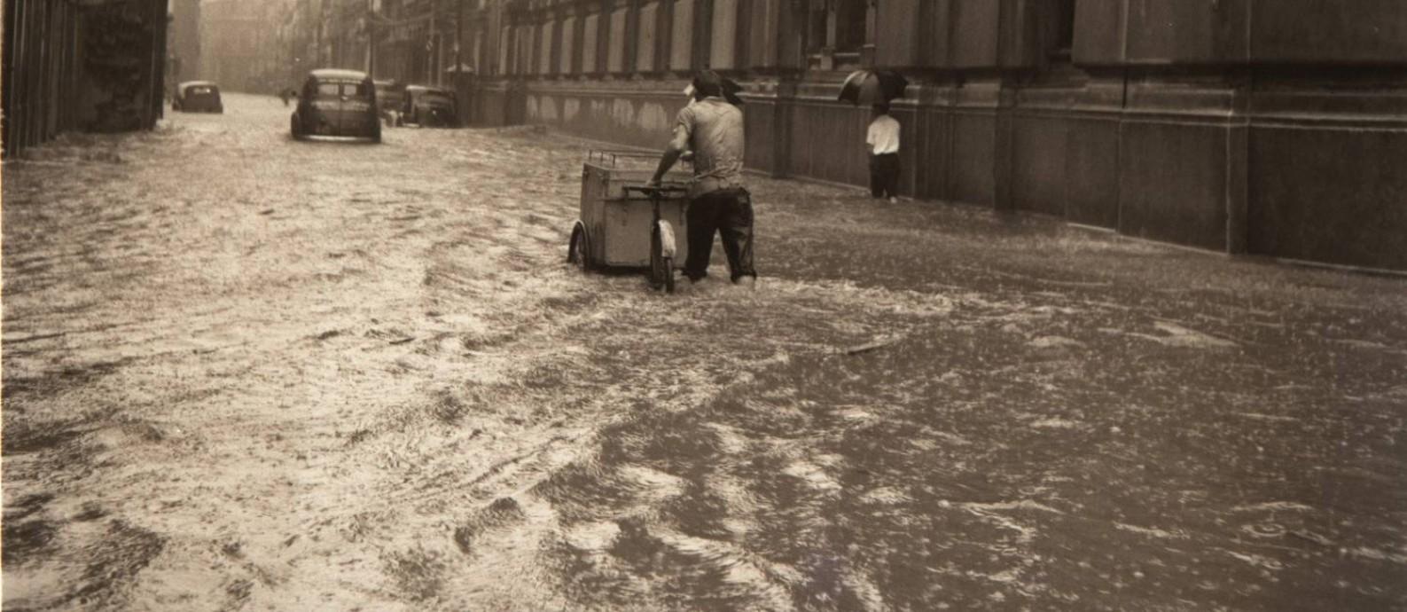 Enchente no Rio de Janeiro, janeiro de 1959 Foto: Arquiivo