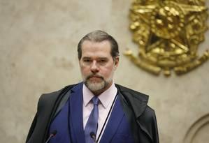 O presidente do STF, ministro Dias Toffoli, durante sessão Foto: Rosinei Coutinho/STF