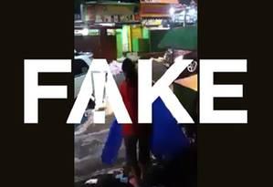 Não é verdade que vídeo de mulher jogando lixo na enxurrada tenha sido gravado em plena enxurrada no Rio Foto: Reprodução