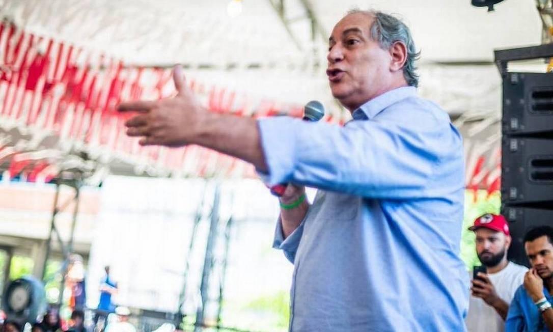 Ciro Gomes (PDT-CE) se irritou com militantes do PT em um evento da UNE em Salvador (BA) Foto: Matheus Alves / CUCA da UNE/Reprodução