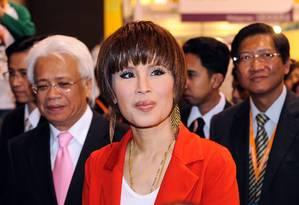 Princesa Ubolratana Rajakanya visita exposição na Tailândia Foto: MIKE CLARKE 24-03-2010 / AFP
