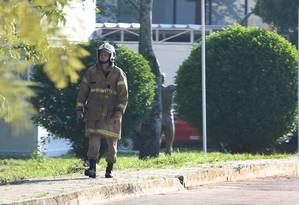 Incêndio deixa dez mortos no alojamento da base do Flamengo no Ninho do Urubu Foto: Fabiano Rocha