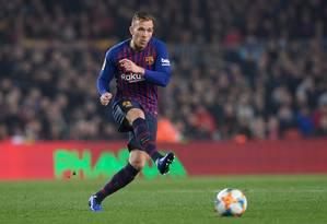 Arthur desfalcará o Barcelona por até um mês Foto: LLUIS GENE / AFP