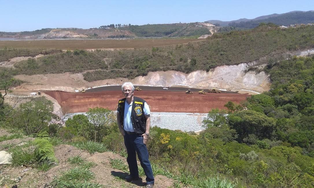 Mário Parreiras de Faria, auditor fiscal do Trabalho, acompanha rompimentos de barragens desde 1987, quando ocorreu o desastre em Itabirito que matou cinco trabalhadores Foto: Arquivo pessoal