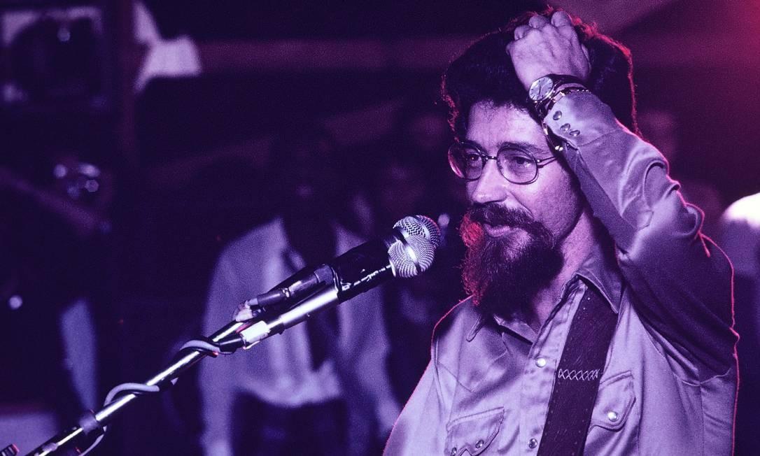 Raul Seixas, uma das atrações do festival de 1976 Foto: Chico Mascarenhas / Divulgação