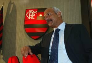 Júnior, quando assumiu cargo de diretor técnico do Flamengo, em 2003 Foto: Hipólito Pereira / Agência O Globo