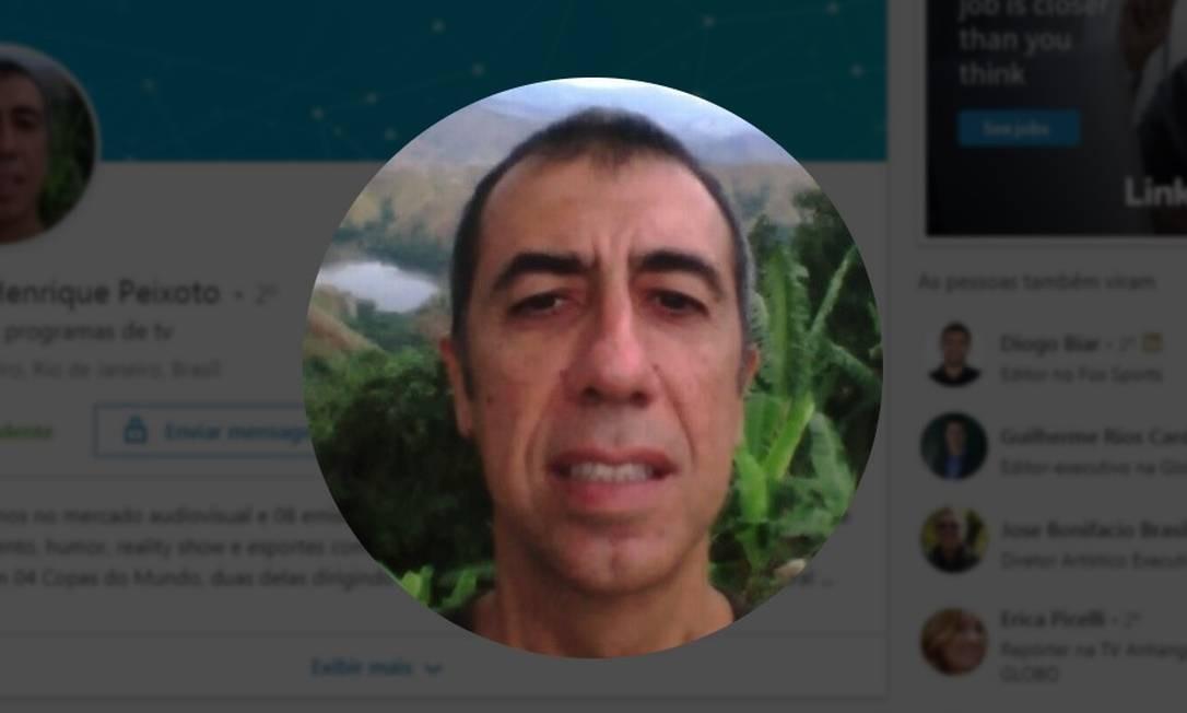 O jornalista Pedro Henrique Peixoto, novo secretário do Audiovisual Foto: Reprodução