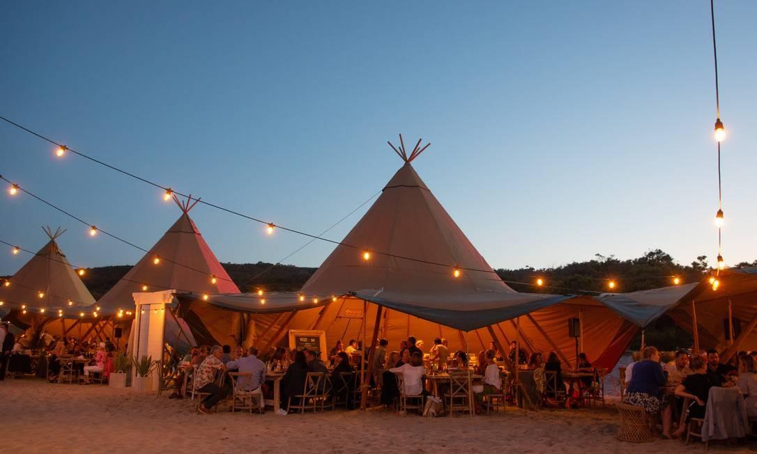 Tendas montadas para o festival Margaret River Gourmet Escapade Foto: Graham Miller/The New York Times