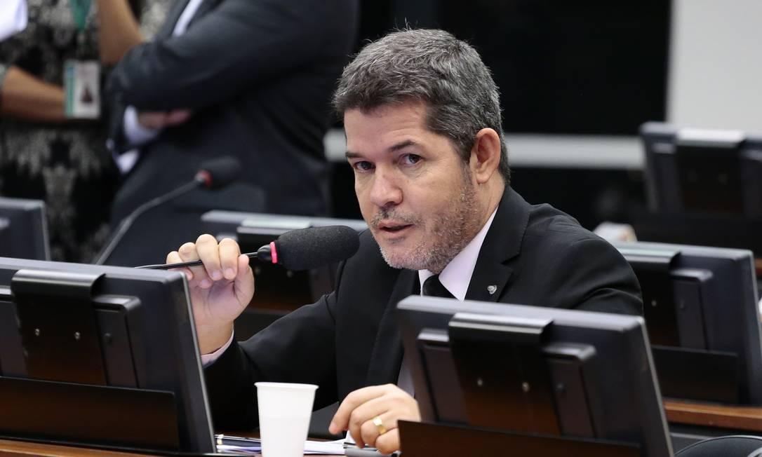 O deputado Delegado Waldir, durante sessão da CCJ Foto: Cleia Viana/Câmara dos Deputados/06-04-2017