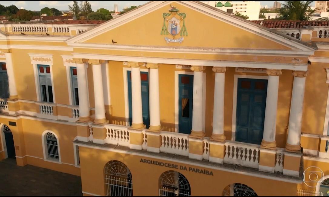 A sede da Arquidiocese da Paraíba, em João Pessoa Foto: Reprodução/TV Globo