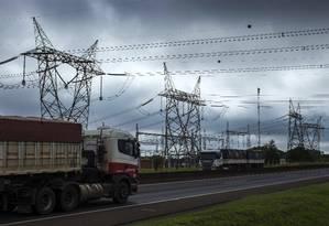 Rede de transmissão de energia elétrica no interior do estado de São Paulo Foto: Edilson Dantas / Agência O Globo