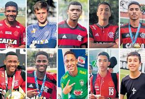 Os dez atletas que morreram no incêndio do CT do Flamengo Foto: Reprodução