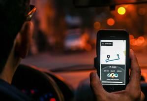 Ni Niteroi - Rio de Janeiro 07/06/2018 Prefeitura de Niterói vai cadastrar motoristas de aplicativos de Uber. Foto Marcelo Régua / Agencia O Globo Foto: Marcelo Régua / Agência O Globo