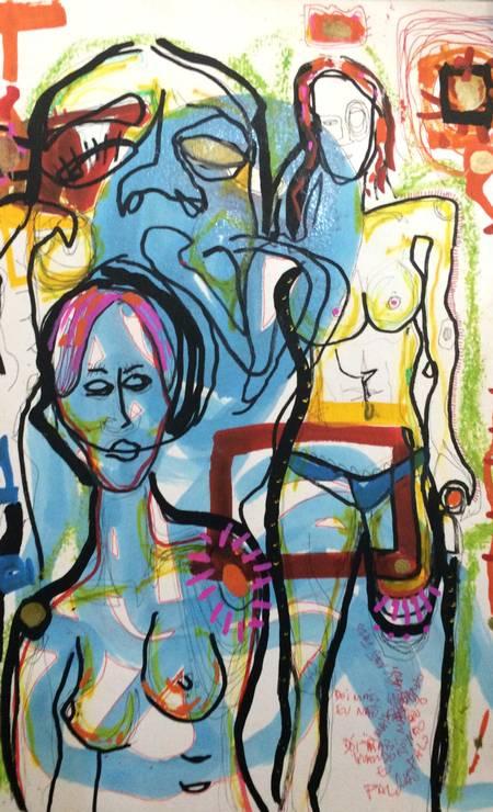 'Dói mais quando não falo', pintura de Marcelo Yuka Foto: Divulgação