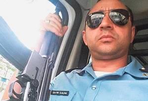 Na ativa: o tenente Djalma dos Santos Araújo em foto postada nas redes sociais: