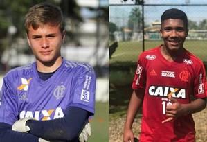 Bernardo Pisetta, de 14 anos, e Vítor Isaías, de 15, dois jovens mortos no incêndio do Centro de Treinamento do Flamengo Foto: Reprodução