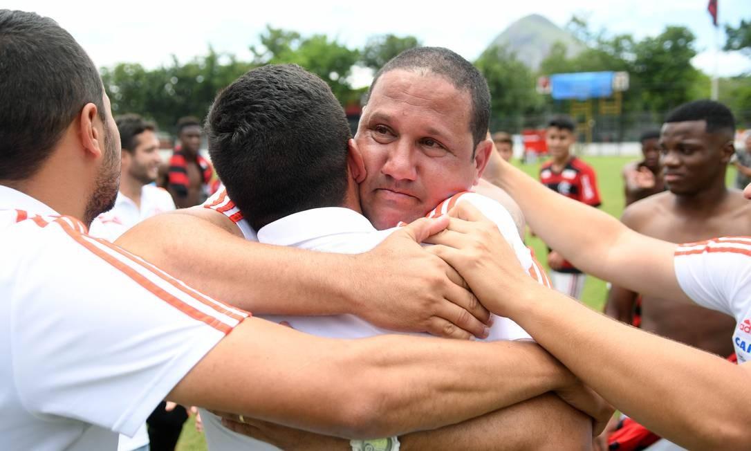 Mário Jorge é treinador do sub-15 do Flamengo Foto: Staff Images